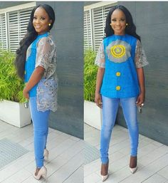 Still not sure how to slay the style yo have, check out these fashionable ladies as they slay in style. Now Here Is How To Slay In Latest Ankara Styles. Ankara Tops Blouses, African Blouses, African Tops, African Shirts, African Print Dresses, African Print Fashion, African Fashion Dresses, African Attire, African Wear