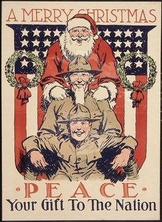 Merry Christmas, now give Santa a piggyback ride. Santa and maybe Uncle Sam or Colonel Sanders Wilhelm Ii, Kaiser Wilhelm, Merry Christmas, Christmas Poster, Father Christmas, Christmas Journal, Christmas Cross, Christmas Ornament, Christmas Holidays