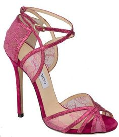 pink sandals by Jimmy Choo
