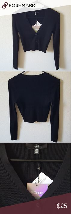 Missguided Ribbed Knit Cropped Long Sleeve Sweater Missguided Ribbed Knit Cropped Long Sleeve Sweater Missguided Tops Crop Tops