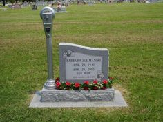 Curiosities: Parking Meter Grave    I like this! Kind of a nice way to honor the woman's personality.