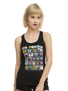One Direction Framed Photos Girls Tank TopOne Direction Framed Photos Girls Tank Top, BLACK