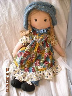 Big Vintage Holly Hobby Hobbie Doll 1970's Knickerbocker Toy Cloth Rag Doll | eBay