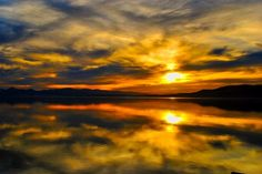 """Lake Sunset in Orange"" c. 2009 by Shawna Zimmerman Gregg of FiftyTwo Photography"