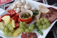 Cheese fondue dipping platter