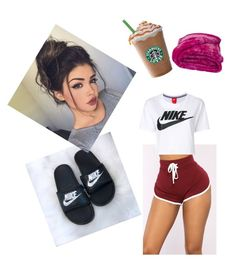 """lazy day"" by dessiesanchez on Polyvore featuring NIKE"