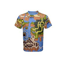 pre-sale t-shirt orders depicting a hand painted image of the Super Mario World map. Image originally painted in acrylic on a 24 x 24 canvas by one of this shops two operating artists. Super Mario World, Shops, Hand Painted, Artists, Map, Canvas, Mens Tops, T Shirt, Shopping