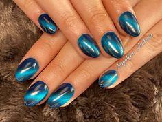 Blaue Cat-Eye Nägel Gemstone Rings, Gemstones, Nails, Beauty, Nail Studio, Nice Asses, Finger Nails, Gems, Ongles