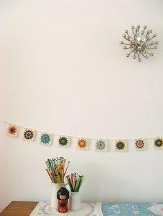 crochet Granny Square Garland by Dottie Angel on Flickr