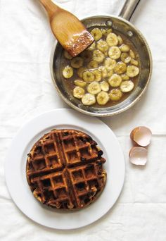 brown butter waffles with whipped maple butter from donna hay magazine ...