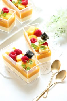 Jelly Desserts, Fancy Desserts, Sweet Desserts, Delicious Desserts, Yummy Food, Dessert Boxes, Dessert Cups, Dessert Drinks, Dessert Recipes