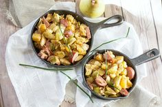 Kielbasa is a flavorful, umami addition to this skillet meal of pears, Brussels…