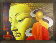Rare Thoughts Art Gallery Buddha and monk painting