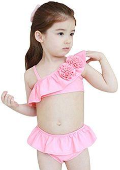 Pink Platinum Little Girls Big Flower Tankini