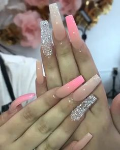 Bright Summer Acrylic Nails Discover 31 Awesome Acrylic Nail Designs Ideas for This Summer 2020 Summer Acrylic Nails, Best Acrylic Nails, Pink Acrylic Nail Designs, Glam Nails, Bling Nails, Fabulous Nails, Perfect Nails, Fire Nails, Coffin Nails Long