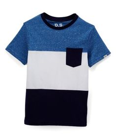 3414bda0901 Look what I found on  zulily! Blue Color Block Pocket Tee - Boys