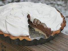 Homemade Baker's Square French Silk Pie! | Amanda's Cookin'--Made this yesterday, IT WAS PERFECT. I used homemade whipped cream and its delicious (: