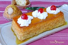 Pudin de Magdalenas - entre3fogones.com Flan, French Toast, Cheesecake, Breakfast, Desserts, Ideas Para, Youtube, Salads, Bread Puddings