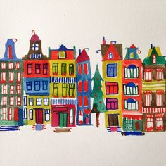 Amsterdam #5. Off to the countryside today! #watercolor #amsterdam #paint #painting