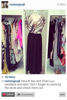 Melange Boutique displaying new YanaK front and center! Contact ussales@yanak.com to purchase!