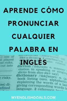 Learn how to pronounce any word in English Better English, English Time, English Course, English Book, English Fun, English Study, English Class, English Lessons, Learn English