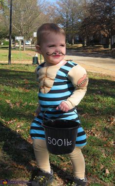 The Littlest Strongman - Cute Halloween Costume Idea