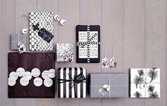 Geschenke einpacken in Schwarz und Weiß - [SCHÖNER WOHNEN]