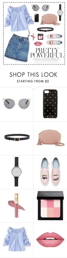 """""""🌤"""" by deichaac on Polyvore featuring Christian Dior, Kate Spade, MICHAEL Michael Kors, Skagen, Chiara Ferragni, Bobbi Brown Cosmetics, WithChic, Forever 21 and rag & bone/JEAN"""