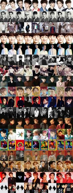 EXO through out the years Kpop Exo, Exo Chanyeol, Kyungsoo, Exo Chanbaek, Exo Ot12, K Pop, Exo Album, Exo Lockscreen, Z Cam