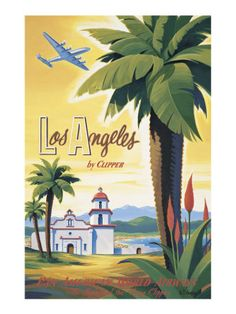 Los Angeles by Clipper Giclee Print