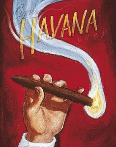 Darren Hoover Cigars Havana Cuba Vintage Oil Painting on Canvas Cigar Lounge Man Cave, Havana Cigars, Vintage Cuba, Cigar Art, Cigars And Whiskey, Vintage Travel Posters, Canvas Art Prints, Just For You, Lounges