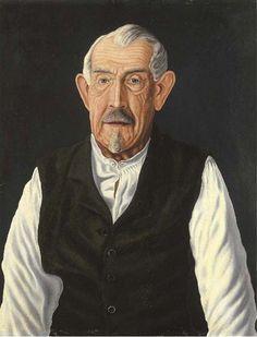 Adolf Dietrich - Vater des Künstlers (Father of the artist) WikiArt.org