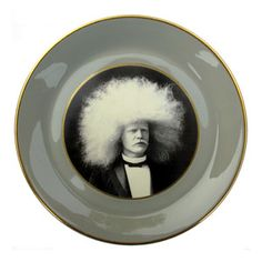 Amazing Albino Afro Man Plate,