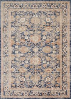 Trinity TY-03 Navy Area Rug - Magnolia Home by Joanna Gaines | Carpetmart.com