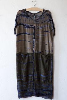 raquel allegra olive boxy dress – Lost