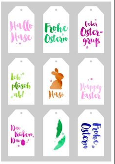 Free download Easter tags - Osteranhänger von EDEKA  (Download Button oben rechts)
