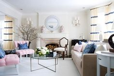 purple and pink living room - Google Search