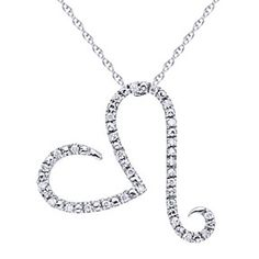 0.1 Ct Natural Diamond 925 Sterling Silver Heart Pendant Necklace by JewelryHub on Opensky