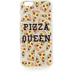 TOPSHOP **Pizza Queen iPhone 6 Case by Skinnydip (293.320 IDR) ❤ liked on Polyvore