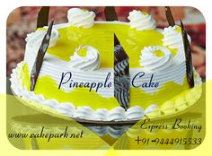 Looking for Pineapple Delight Cake ? This cake tastes so delicious and you should definitely Love it...  Express Booking :+91-9444915533