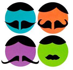 Barbershop quartet heads.