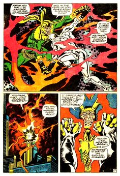 The Silver Surfer and Loki by John Buscema