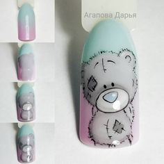 Christmas Nails For Beautiful Holiday Fashion Nail Drawing, Animal Nail Art, Cat Nails, Disney Nails, Gel Nail Designs, Flower Nails, Easy Nail Art, Trendy Nails, Christmas Nails