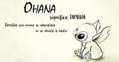 Ohana Español Frases Disney, Disney Quotes, Disney Art, Walt Disney, Macbook Wallpaper, Lilo And Stitch, Tattoos For Women, Kawaii, Memes