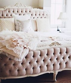 princess bed // tufted headboard + footboard