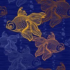Illustration of Polygonal gold fish on a black background. gold fish vector art, clipart and stock vectors. Fish Vector, Vector Art, Poisson Combatant, 3d Cuts, Fish Illustration, Cross Stitch Art, Cross Paintings, Fish Art, Abstract Flowers