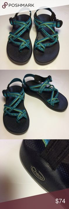 Chacos Great condition! No flaws. Blue/green. Size 6 or Euro size 37. No trades. Chacos Shoes Sandals