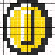Mario Coin Perler Bead Pattern | Bead Sprites | Misc Fuse Bead Patterns