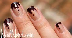drippy nails. chocolate? or BLOOD? heehee!