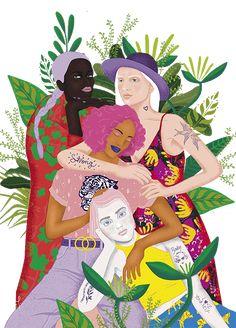 Especial Sororidad Illustrations, Illustration Art, Feminist Art, Wallpaper, Art Boards, Art Girl, Art Inspo, Collages, Pop Art